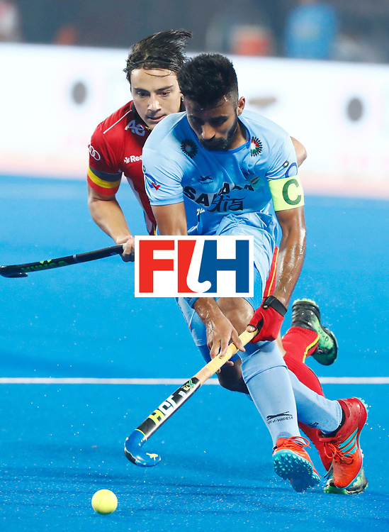 Odisha Men's Hockey World League Final Bhubaneswar 2017<br /> Match id:13<br /> Belgium v India<br /> Foto: Manpreet Singh (Ind) <br /> COPYRIGHT WORLDSPORTPICS KOEN SUYK