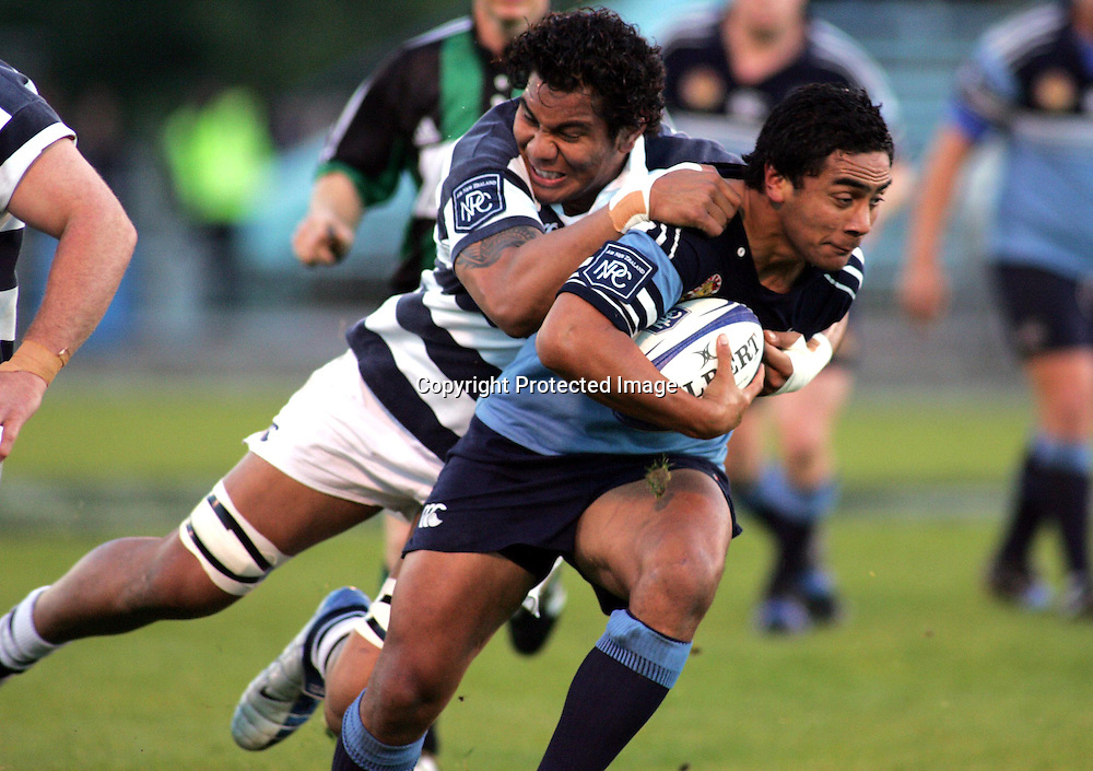 John Senio in action during the NPC first division match between Northland and Auckland at Whangarei, Northland, New Zealand. Saturday 21 August 2004 . Auckland won the game 37-29 <br />