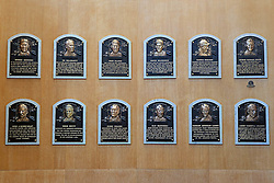 Hall of Fame plaques, National Baseball Hall of Fame and Museum, Cooperstown, New York, United States of America