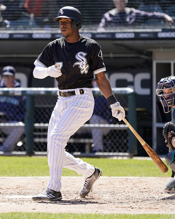 CHICAGO - APRIL 25:  Tim Anderson #7 of the Chicago White Sox bats against the Seattle Mariners on April 25, 2018 at Guaranteed Rate Field in Chicago, Illinois.  (Photo by Ron Vesely)   Subject:   Tim Anderson