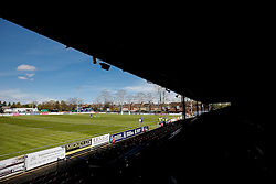 General View of the Goldington Road pitch ahead of kick off - Mandatory byline: Rogan Thomson/JMP - 01/05/2016 - RUGBY UNION - Goldington Road - Bedford, England - Bedford Blues v Bristol Rugby - Greene King IPA Championship Play Off Semi Final 1st Leg.