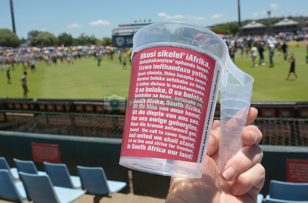 Pretoria 26-12-18. The 1st of three 5 day cricket Tests, South Africa vs Pakistan at SuperSport Park, Centurion. Day 1. A plastic mug supplied to supporters in the grand stand area. Picture: Karen Sandison/African News Agency(ANA)