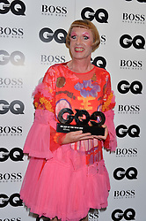 GRAYSON PERRY at the GQ Men of The Year Awards 2016 in association with Hugo Boss held at Tate Modern, London on 6th September 2016.