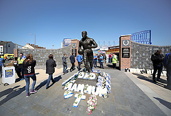 A general view of the memorial statue outside Goodison Park ahead of the Barclays Premier League match between Everton and Burnley - Photo mandatory by-line: Matt McNulty/JMP - Mobile: 07966 386802 - 18/04/2015 - SPORT - Football - Liverpool - Goodison Park - Everton v Burnley - Barclays Premier League