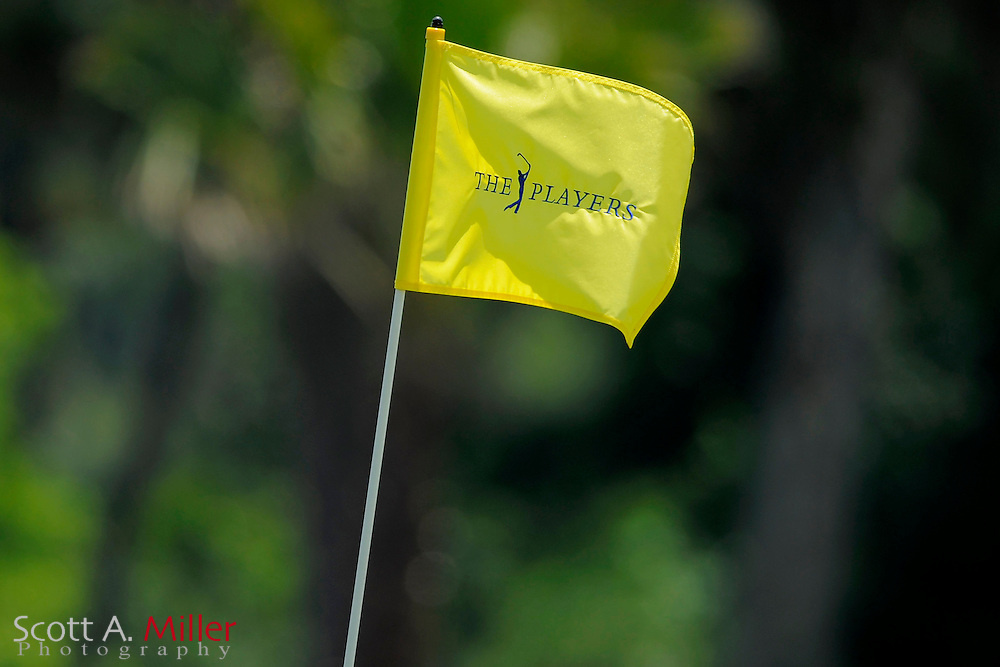 A pin flag blows in the wind during a practice round for the Players Championship at TPC Sawgrass on May 7, 2008 in Ponte Vedra Beach, Florida.     © 2008 Scott A. Miller