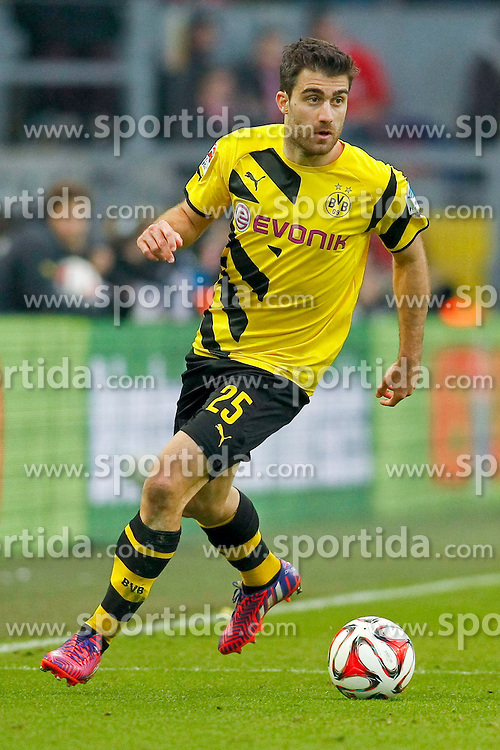 04.04.2015, Signal Iduna Park, Dortmund, GER, 1. FBL, Borussia Dortmund vs FC Bayern Muenchen, 27. Runde, im Bild Sokratis (Borussia Dortmund #25) // during the German Bundesliga 27th round match between Borussia Dortmund and FC Bayern Muenchen at the Signal Iduna Park in Dortmund, Germany on 2015/04/04. EXPA Pictures &copy; 2015, PhotoCredit: EXPA/ Eibner-Pressefoto/ Sch&uuml;ler<br /> <br /> *****ATTENTION - OUT of GER*****