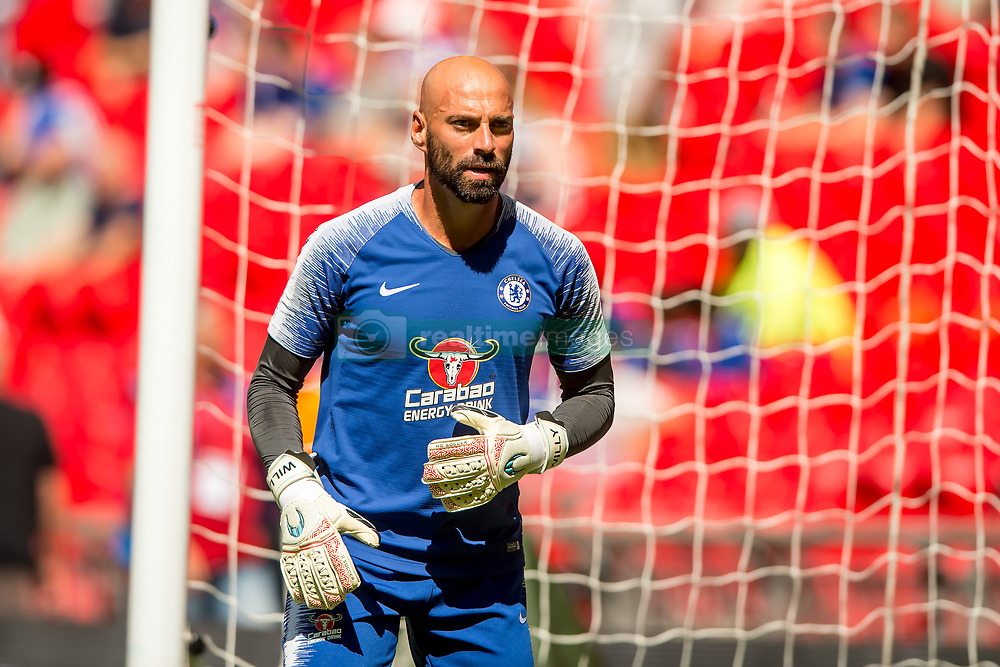 August 5, 2018 - Wilfredo Caballero of Chelsea during the 2018 FA Community Shield match between Chelsea and Manchester City at Wembley Stadium, London, England on 5 August 2018. Photo by Salvio Calabrese. (Credit Image: © AFP7 via ZUMA Wire)