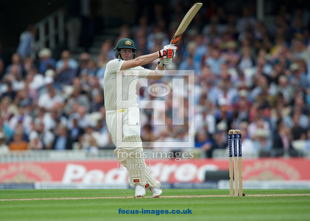 Steven Smith of Australia hooks the ball for a boundary while batting during the 5th Investec Ashes Test Match match at the Kia Oval, London<br /> Picture by Alan Stanford/Focus Images Ltd +44 7915 056117<br /> 20/08/2015