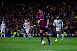 May 1, 2019 - Barcelona, BARCELONA, Spain - 05 Sergio Busquets of FC Barcelona during the UEFA Champions League first leg match of Semi final between FC Barcelona and Liverpool FC in Camp Nou Stadium in Barcelona 01 of May of 2019, Spain. (Credit Image: © AFP7 via ZUMA Wire)