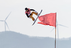 19.02.2018, Alpensia Ski Jumping Centre, Pyeongchang, KOR, PyeongChang 2018, Snowboard, Damen, Big Air, im Bild Silje Norendal (NOR) // Silje Norendal of Norway during the Ladies Snowboard Big Air of the Pyeongchang 2018 Winter Olympic Games at the Alpensia Ski Jumping Centre in Pyeongchang, South Korea on 2018/02/19. EXPA Pictures © 2018, PhotoCredit: EXPA/ Johann Groder