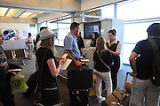 Israel, Ben Gurion International Airport, The departure lounge Passengers are boarding the flight