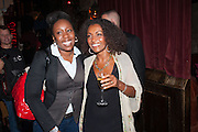 Chizzy Akudolu; Adjoa Andoh,  , West End opening of RSC production of Julius Caesar at the Noel Coward Theatre on Saint Martin's Lane. After-party  at Salvador and Amanda, Gt. Newport St. London. 15 August 2012.