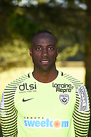 Guy Roland Ndy Assembe of Nancy poses for a portrait during the Nancy squad photo call for the 2016-2017 Ligue 1 season on August 25, 2016 in Nancy, France<br /> Photo : Fred Marvaux / Icon Sport