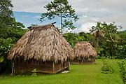 Guest bures at Bulou's Eco Lodge, Navala Village, Viti Levu island, Fiji.
