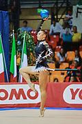 Greta Merlo atleta della società Virtus di Gallarate durante la seconda prova del Campionato Italiano di Ginnastica Ritmica.<br /> La gara si è svolta a Desio il 31 ottobre 2015.