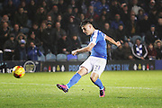 Peterborough United striker Tom Nichols (21) puts Peterborough 4-2 up  during the EFL Sky Bet League 1 match between Peterborough United and Chesterfield at London Road, Peterborough, England on 10 December 2016. Photo by Nigel Cole.