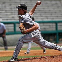 June 04, 2011; Tallahassee, FL, USA; UCF Knights starting pitcher Danny Winkler (35) during the second inning of the Tallahassee regional of the 2011 NCAA baseball tournament against the Bethune-Cookman Wildcats at Dick Howser Stadium. Mandatory Credit: Derick E. Hingle