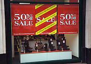 Stead and Simpson shoe shop January sales, Ipswich