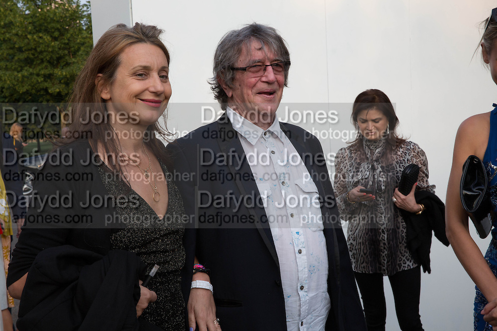 CAROLINE BROWN; HOWARD MARKS, The Serpentine Summer Party 2013 hosted by Julia Peyton-Jones and L'Wren Scott.  Pavion designed by Japanese architect Sou Fujimoto. Serpentine Gallery. 26 June 2013. ,