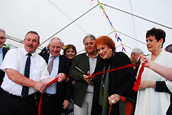 On the occassion of the 60th anniversary of The Quiet Man, Maureen O'Hara was welcomed back to Cong to officially open the 1st Quiet Man festival in the Mayo town..Ray McHugh and Minister Michael Ring helped with the red tape...Pic Conor McKeown