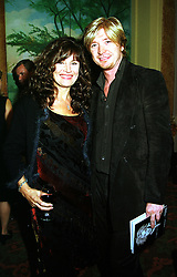 Hairdresser NICKY CLARKE and LESLEY CLARKE at a party in London on 22nd September 1999.MWR 5
