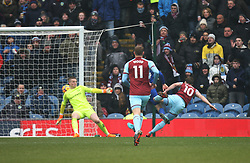 Ashley Barnes of Burnley (R) scores his sides first goal - Mandatory by-line: Jack Phillips/JMP - 03/03/2018 - FOOTBALL - Turf Moor - Burnley, England - Burnley v Everton - English Premier League