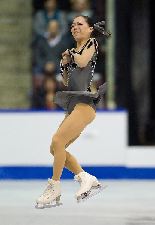 GJR -20111028- Mississauga, Ontario,Canada-  Akiko Suzuki skates her short program at Skate Canada International, October 28, 2011.<br /> AFP PHOTO/Geoff Robins