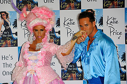 Katie Price Book Launch.<br /> English media personality, reality TV star, author, former glamour model, occasional singer and businesswoman Katie Price with husband Kieran Hayler attend a photocall to launch her new book 'He's The One' at The Worx, <br /> London, United Kingdom<br /> Tuesday, 18th June 2013<br /> Picture by Chris  Joseph / i-Images<br /> File Photo - Katie Price is to divorce husband Kieran Hayler after claiming he has been having an affair with her best friend. Photo filed Wednesday 7th May 2014.