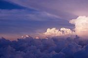 Strato cumulus clouds at dusk