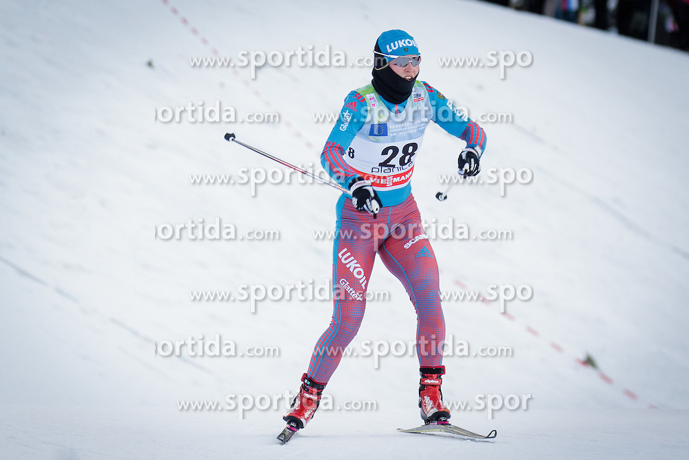 Yulia Romanova (RUS) during Ladies 1.2 km Free Sprint Qualification race at FIS Cross<br /> Country World Cup Planica 2016, on January 16, 2016 at Planica,Slovenia. Photo by Ziga Zupan / Sportida