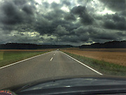 ROAD TRIP: Photographers Georgie Gillard and Rick Findler drove 1,973 miles and through nine countries for a friends wedding in Lake Garda, Northern Italy. Armed only with an iPhone and pushed for time, they decided to document their journey through the windscreen of their car.<br /> Pictured: Lonsee, Germany.