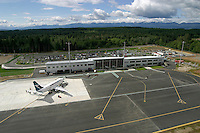 The Comox Valley's YQQ airport has seen a dramatic increase in passenger travel with  Westjet Airline's 737 service which runs  daily in and out of the Comox Valley.  Comox The Comox Valley, Vancouver Island, British Columbia, Canada.