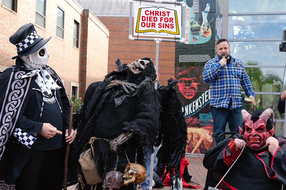USA, MA, Salem, 31 October 2017. Halloween celebration in Salem.