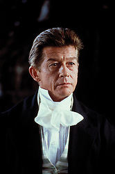 January 27, 2017 - File - Hollywood legend JOHN HURT, Two-time Oscar nominee and Elephant Man actor dead at age 77 after battling cancer and suffering intestinal complaint. The Elephant Man star had a career which spanned more than six decades. Hurt had recently starred in the Oscar nominated biopic, Jackie. The English actor was born in Derbyshire and became a critical and commercial success in films like Midnight Express, Alien and Tinker Tailor Soldier Spy. Pictured:  RELEASE DATE: November 02, 1990 MOVIE TITLE: Frankenstein Unbound<br /> STUDIO: Twentieth Century Fox PICTURED: JOHN HURT as Dr. Joe Buchanan. (Credit Image: © Twentieth Century Fox/Entertainment Pictures/ZUMAPRESS.com)