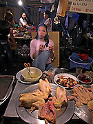 Vietnam, Hanoi: night market.