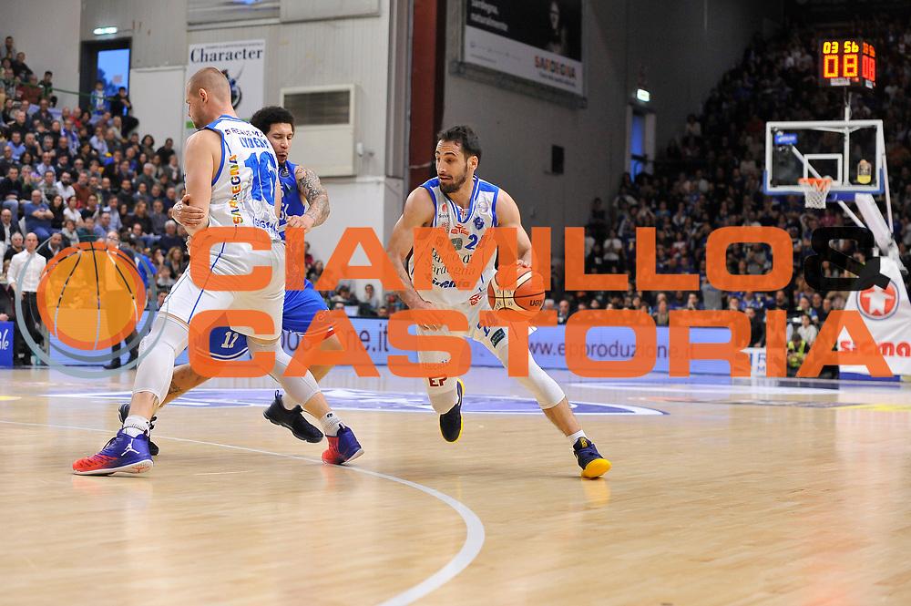 Tautvydas Lydeka - Nic Moore - Rok Stipcevic<br /> Banco di Sardegna Dinamo Sassari - Enel New Basket Brindisi<br /> LegaBasket Serie A LBA Poste Mobile 2016/2017<br /> Sassari 02/04/2017<br /> Foto Ciamillo-Castoria
