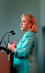 06 June 2014. The National WWII Museum, New Orleans, Lousiana. <br /> Louisiana Senator Mary Landrieu at an event to commemorate D-Day.<br /> Photo; Charlie Varley/varleypix.com