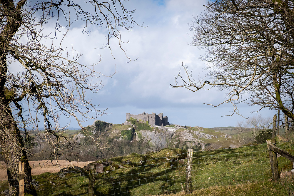 Carreg Cennen Castle, Trapp, Brecon Beacons, Powys, UK. The castle has been in a ruinous state since 1462 and is under the care of Cadw, the Welsh Government historic environment service. The castle is on a working hill farm.  (photo by Andrew Aitchison / In pictures via Getty Images)