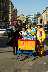 Performers Andy Gray, Allan Stewart and Grant Stott today launched the Christamas pantomime Aladdin,  ten years after they first appeared together in the same production. Edinburgh,  9 September 2014 Ger Harley   StockPix.eu