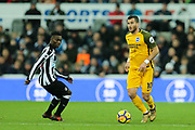 Tomer Hemed (#10) of Brighton & Hove Albion picks up he ball during the Premier League match between Newcastle United and Brighton and Hove Albion at St. James's Park, Newcastle, England on 30 December 2017. Photo by Craig Doyle.