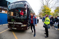 Milan Djuric of Bristol City arrives on the coach - Rogan/JMP - 18/11/2017 - Hillsborough Stadium - Sheffield, England - Sheffield Wednesday v Bristol City - Sky Bet Championship.