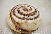 Unbaked cinnamon roll pastry (Cinnamon snail)