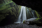 Gljúfrabúi is a waterfall near Seljalandsfoss in south-Iceland. It falls into a cave.