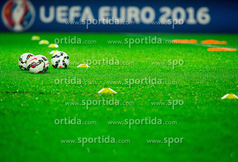 Balls during practice session of San Marino National Football Team 1 day before EURO 2016 Qualifying match against Slovenia, on March 26, 2015 in SRC Stozice, Ljubljana, Slovenia. Photo by Vid Ponikvar / Sportida