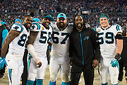 January 24, 2016: Carolina Panthers vs Arizona Cardinals. Panthers players take a group photo