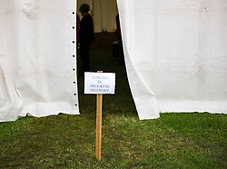 © Licensed to London News Pictures.29/07/15<br /> Borrowby, UK. <br /> <br /> Judging takes place behind closed doors in tents at the Borrowby Country Show and Gymkhana in North Yorkshire.<br /> <br /> Photo credit : Ian Forsyth/LNP