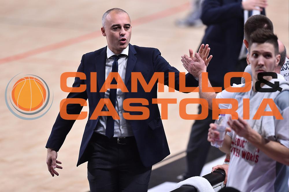 Campionato Italiano Legabasket 2017/18<br /> 19^ Giornata - Ritorno - 10/0272018 <br /> Dolomiti Energia Trentino - Red October Cant&ugrave;<br /> Nella foto Marco Sodini<br /> Foto GiulioCiamillo/Ciamillo-Castoria