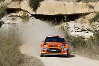 MOTORSPORT - WORLD RALLY CHAMPIONSHIP 2010 - RALLY RACC CATALUNYA COSTA DAURADA / RALLY DE ESPANA / RALLYE D'ESPAGNE - SALOU (SPA) - 21 TO 24/10/10 - PHOTO : FRANCOIS BAUDIN / DPPI - <br /> SOLBERG HENNING (NOR) / MINOR ILKA (AUT) - FORD FIESTA S2000 - STOBART M-SPORT FORD RT - ACTION
