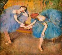 France, Paris (75), zone classée Patrimoine Mondial de l'UNESCO, les Tuileries, le musée de l'Orangerie, Deux danseuses au repos par Edgar Degas, 1898 // France, Paris, les Tuileries, museum of Orangerie, deux danseuses au repos by Edgar Degas, 1898
