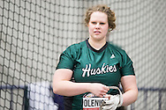 Windsor, Ontario ---2015-03-12--- Olena Olenick of Saskatchewan competes in the weight throw at the 2015 CIS Track and Field Championships in Windsor, Ontario, March 12, 2015.<br /> GEOFF ROBINS/ Mundo Sport Images